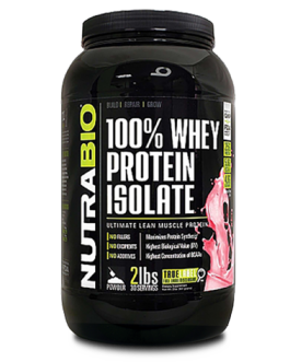 NutraBio 100% Whey Protein Isolate – 907g