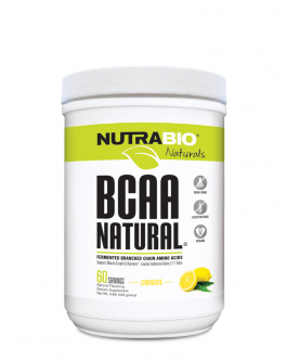 NutraBio BCAA Natural Powder