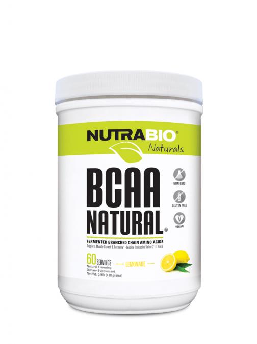 NutraBio BCAA Natural Lemonade