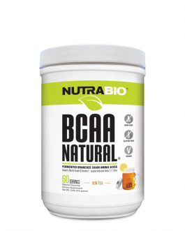 NutraBio BCAA Natural Powder